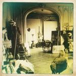 Détail Picasso dans son atelier regardant Tête en cours d'exécution 1957, Villa La Californie, Cannes (Duncan 2012)